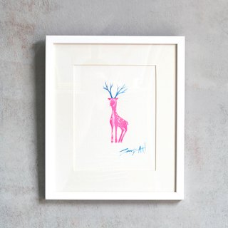 Christmas Recommended / fawn original acrylic painting / paintings / limited one