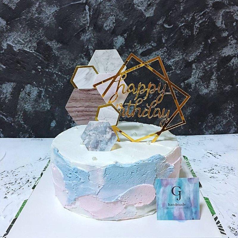 曾幾何蒔 生日蛋糕 客製蛋糕   6 8吋 宅配