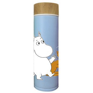 Moomin Moomin license - wood cover thermos (blue)