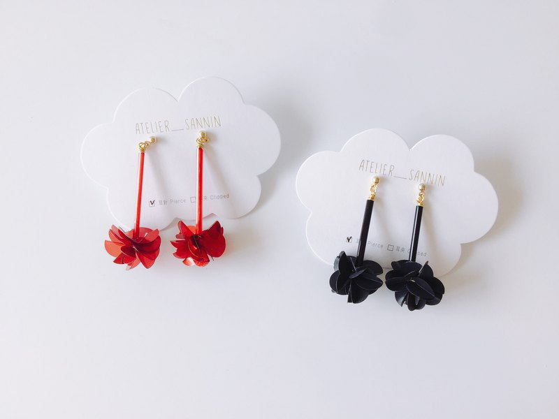 Summer Solstice Fireworks 14 Drop Earrings Handmade Earrings Clamps/Anti-allergy Silicone Ear Hooks