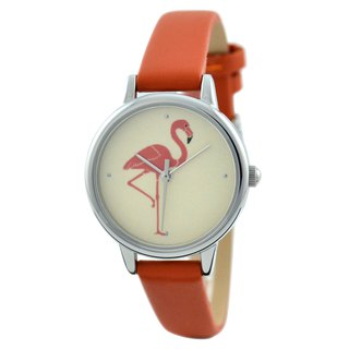 Mothers Day Gift Flamingo Watch Orange Ladies Watch Free shipping worldwid