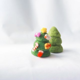 My Christmas tree_Wool felt Christmas tree / jewelry combination (customizable)