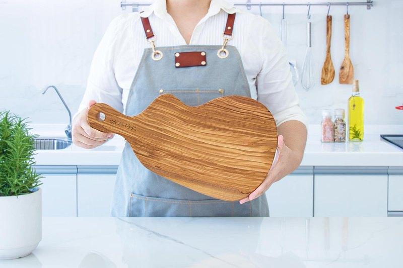 自然造型手把橄欖木砧板-40公分(含手把)品酒盤/起司/擺盤