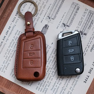 Car key holster handmade buttero Foss key ring gift Volkswagen