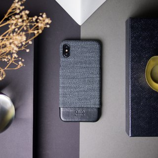 Alto iPhone XR Denim Leather Case – Wolf Grey