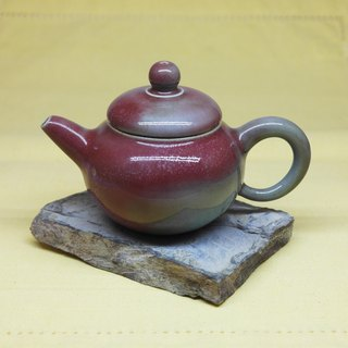 Bronze double-hung pear-shaped positive teapot handmade pottery tea props