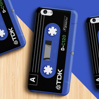 TDK Cassette - Blue Phone case