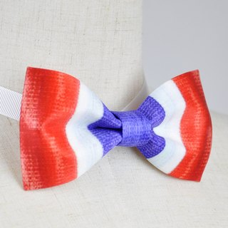 Red, white and blue bow tie, red, white and blue