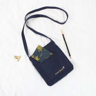 Flower Wen Qingfeng Shoulder Bag 01 Navy Blue