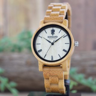 EINBAND Reise Bamboo 32mm Wooden Watch
