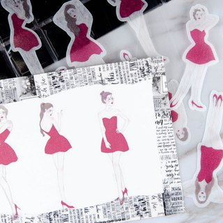 Red girl sticker