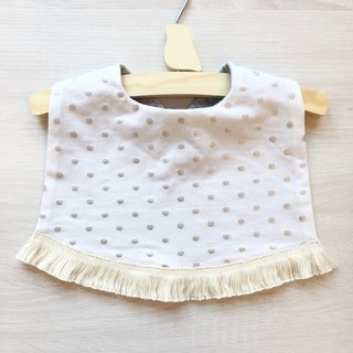 Little tassels bibs (white)