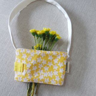 Handmade Nordic yellow flower style eco-friendly beverage bag