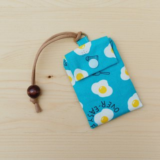 Delicious poached egg card bag _ blue / card set business card bag