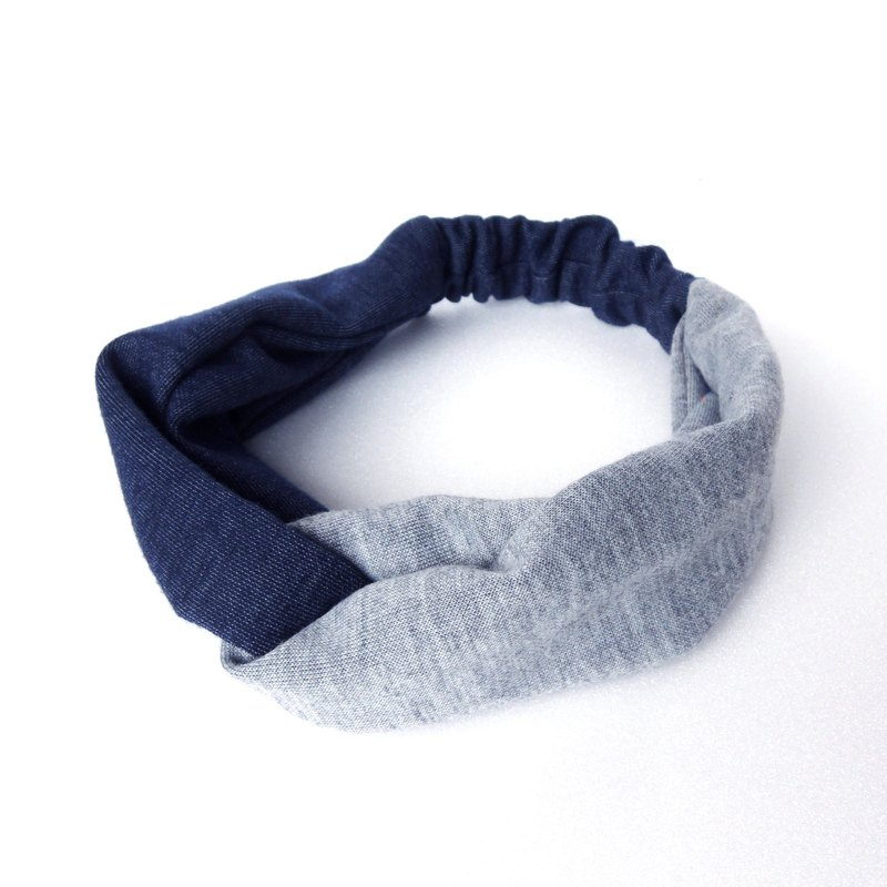 Bicolor Hair Band | Blue & Gray