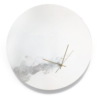 【GREY・Planet・Hand made wall clock】40cm