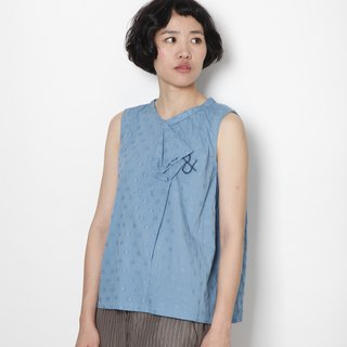 And - nap - irregular collarless sleeve top