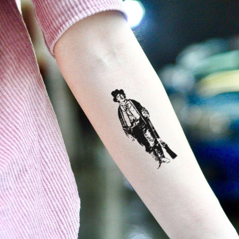 OhMyTat 比利小子 Billy The Kid 刺青圖案紋身貼紙 (2 張)
