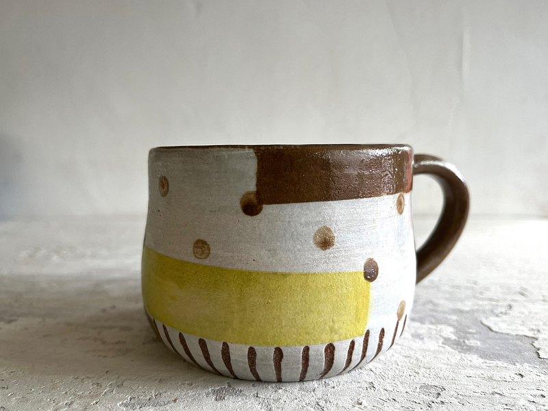 幾何。圓舞曲咖啡杯_陶器馬克杯