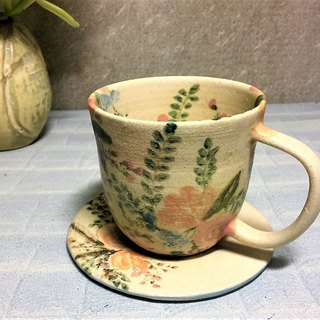 Happy bouquet afternoon tea cup set (narrow mouth) _ pottery mug
