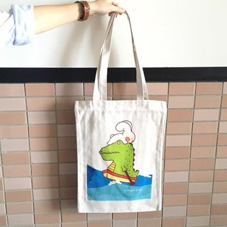 """Art of the fish"" because you have the ability to face the test of illustration canvas bag canvas cloth can shoulder --D0006"