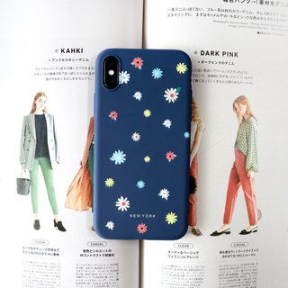 Country small floral dark blue phone case