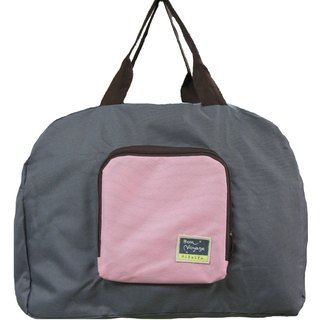 Travelholic Foldable tote Design for all shoppers - Grey -Pink