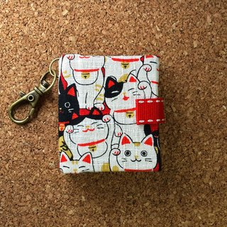 [Beckoning cats come to my house] Mini small phase key ring 5cmX4.3cm-custom small things