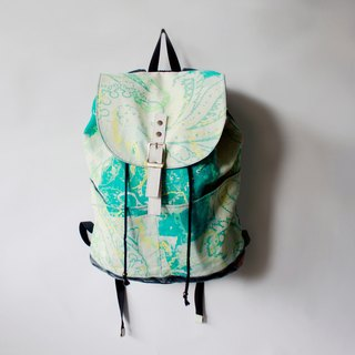 Drawstring backpack light green