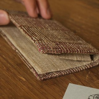 Handwoven Fabric Card Holder / swinging checks