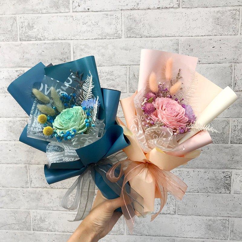 畢業花束 擴香玫瑰乾燥花束