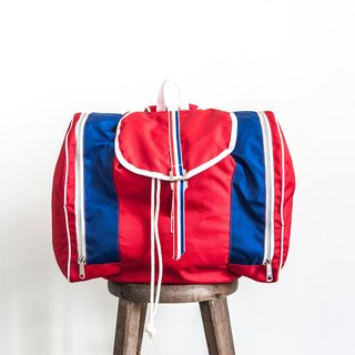 Vintage Camping Packbag Retro Red