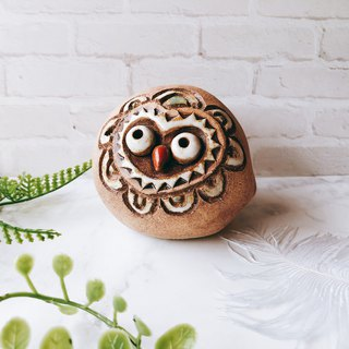 C-35 Owl Tao Ling │ Yoshino Hawk x Office Small Things Ceramic Design Bell Cute Gift