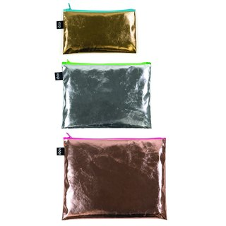 LOQI three into the group of storage bags / bright gold ZPMEN