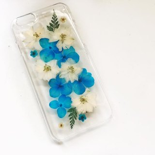 Pressed flower phone case | hydrangea | hydrangea | pressed flower phone case
