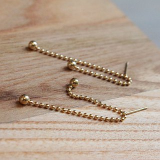 Brass earrings 1135-stars good night