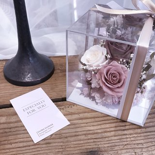 FLORA FLOWER-Eternal Flower Box / Wedding Dry Flower Gift Box / Desktop Decoration / Birthday Gift