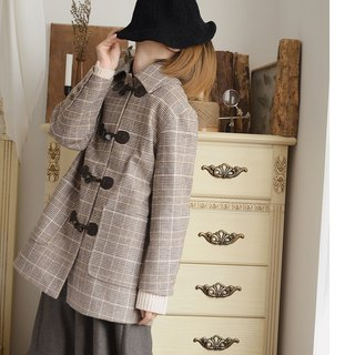 Wool horn buckle coat jacket | jacket | autumn and winter models | wool blend | independent brand | Sora-217