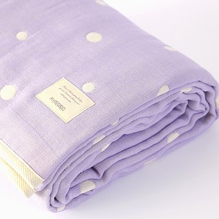 MARURU Six-layer gauze baby blanket  (L) Lavender (Made in Japan)