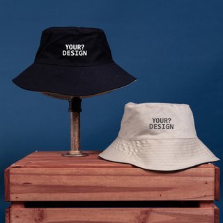 [Customized Valentine's Day Gift] Two-tone Fisherman Hat / Black / Khaki