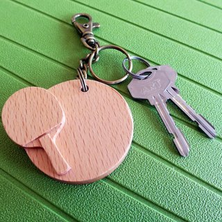【Sports Series】 Billiards Keychain tabletennis // Wooden key ring pendant