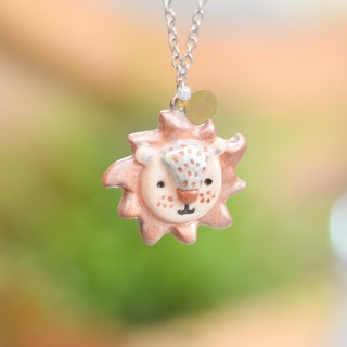 a little sunny lion handmade necklace from Niyome Clay.