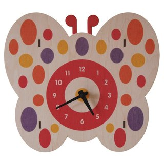 Modern moose-3D- butterfly clock