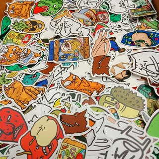 【Waterproof stickers-Snacks】/ MKAC