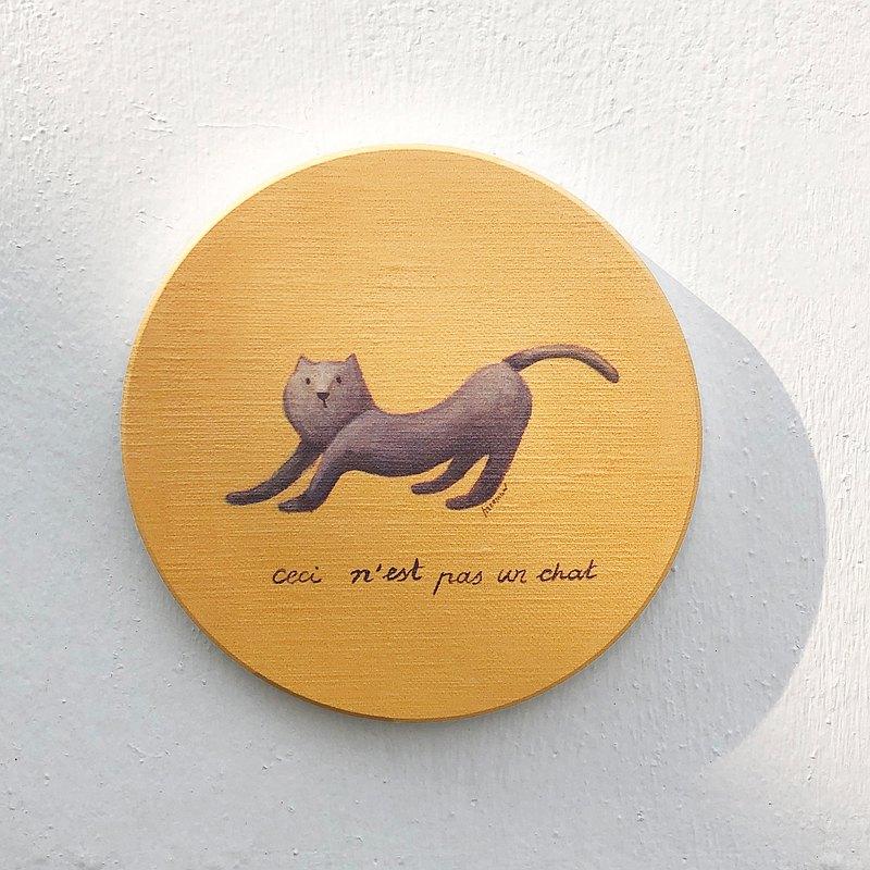 這不是一隻貓的陶瓷吸水杯墊