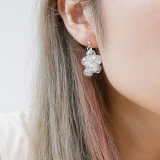 925 Sliver Metallic 001 Bubble Bubbles Earrings