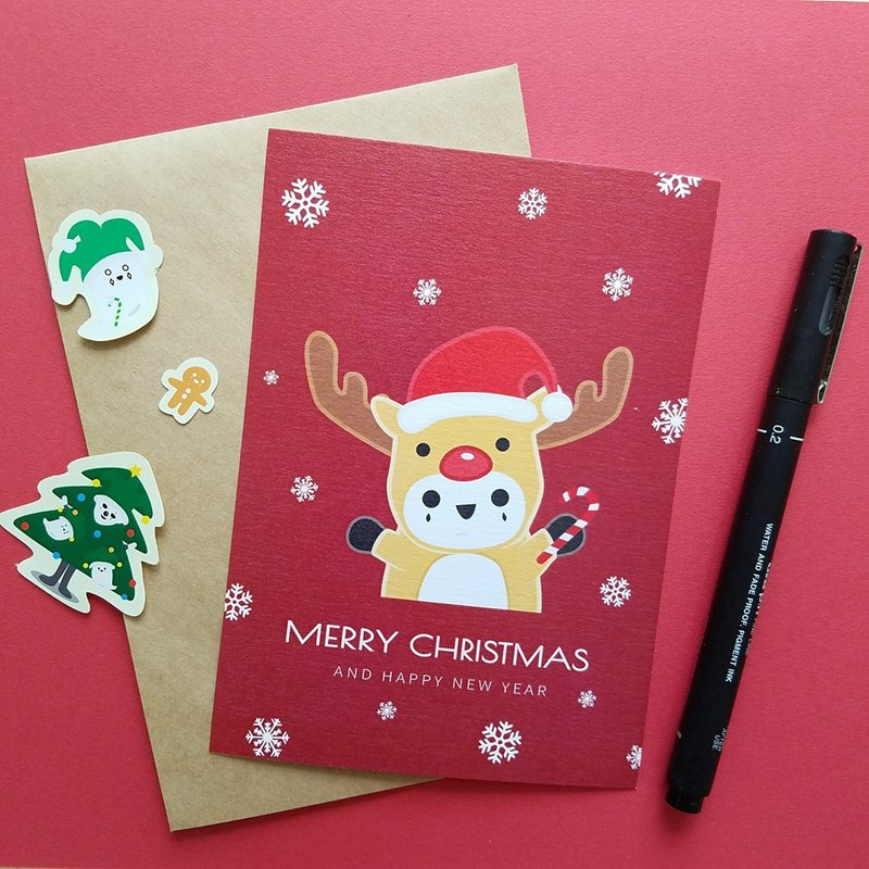 Christmas card | deer cub