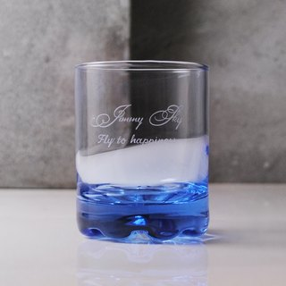 220cc [article signature version] deep sea blue Italian whiskey glass wine glass carving