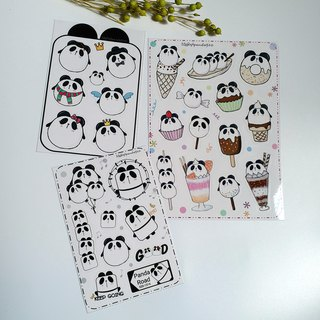 【Cute Panda Stickers】 waterproof stickers | Discount | 3 into