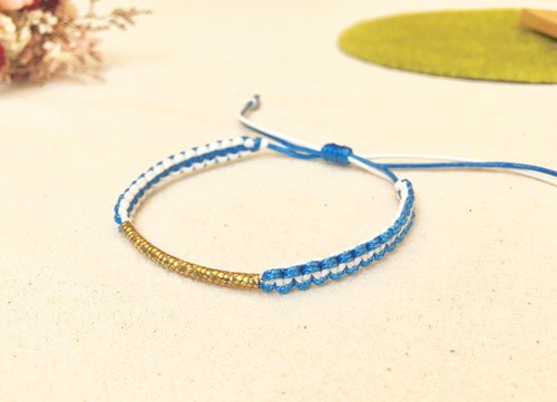 Japanese two-color brass rope knitting series (bracelet/foot ring)